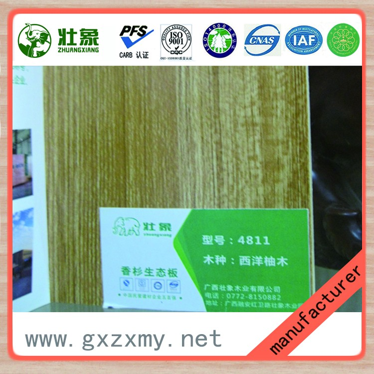 Hot Selling Cedar Wood Core Melamine Faced Eco Board For Wall Decoration