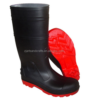 High quality PVCworking safety boots with steel toe and sole for unisex