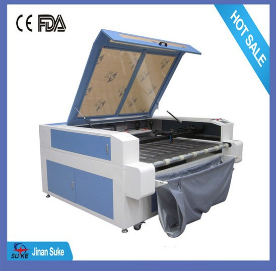 80w 100w 130w 1610 auto feeding fabric CNC laser cutting machine