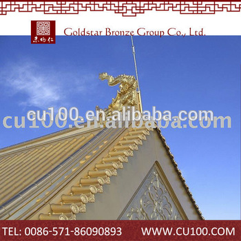Longlasting Copper chinese temple roof tiles