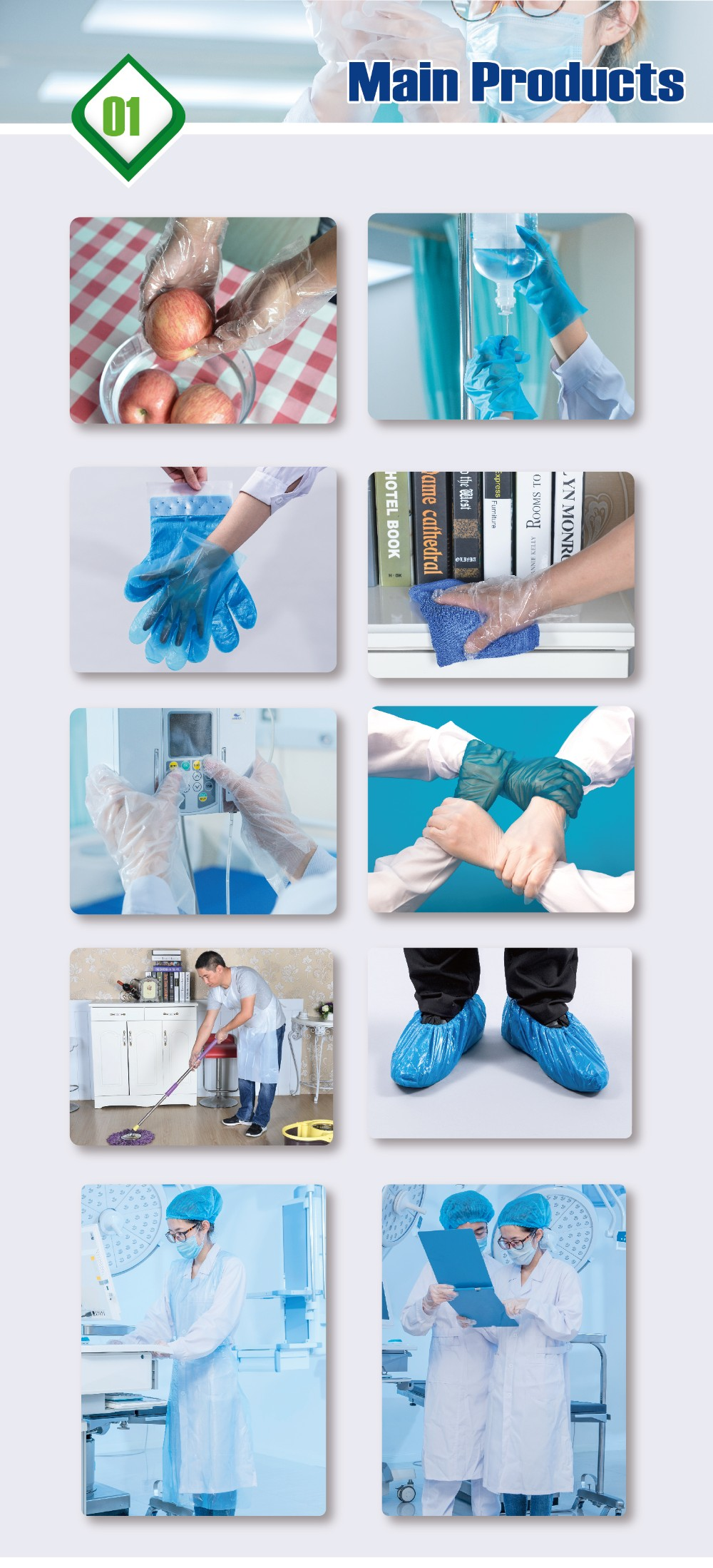 AD008 food grade LDPE Kitchen Hand home cleaning disposable gloves