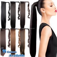 Wholesale best quality remy synthetic hair clip hair extension synthetic clip hair bun pieces