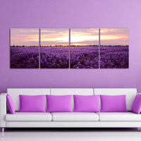 Modern Chinese Painting Home Gifts Wall Hanging 3d Metal Wall Art Paintings purple landscape