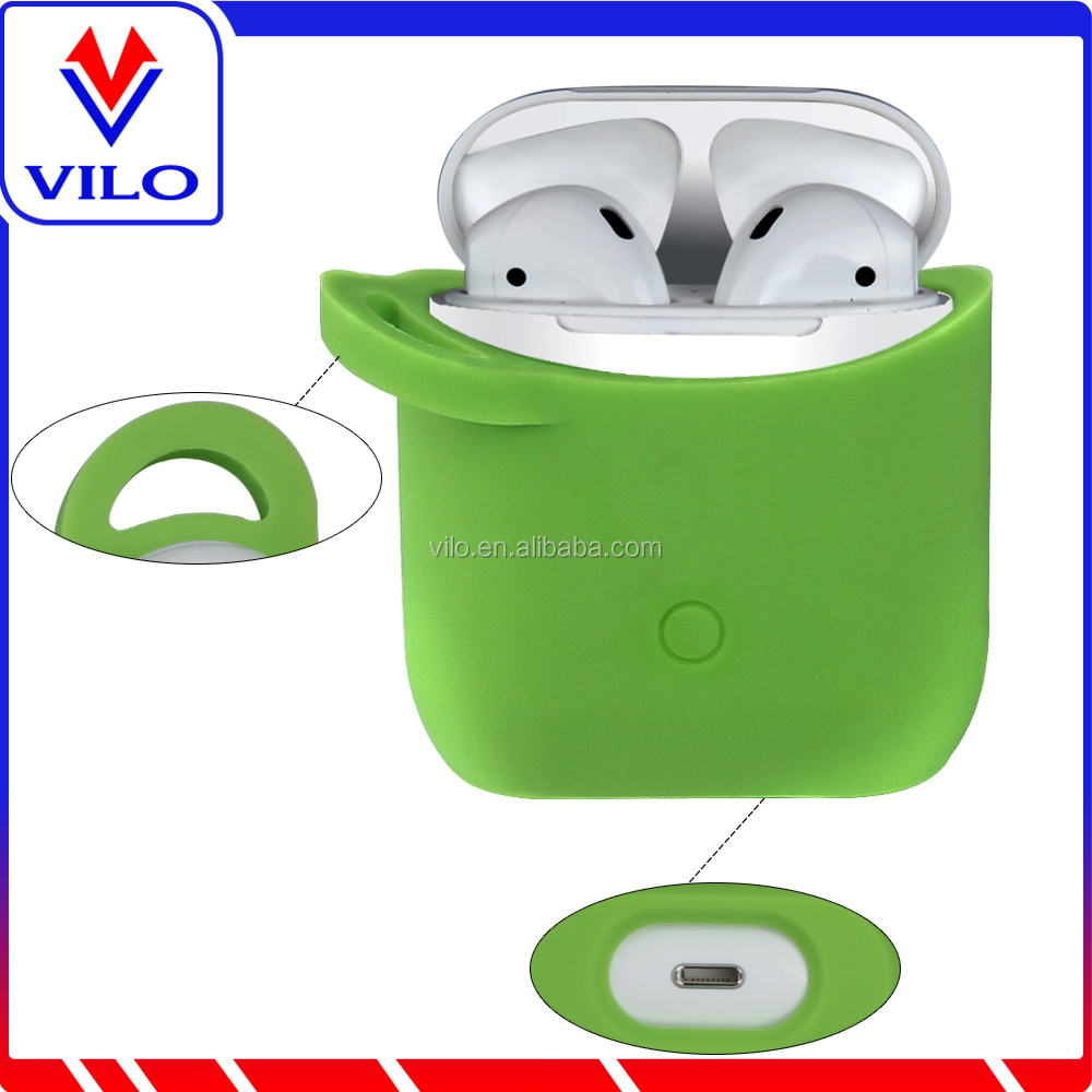 Protective Cover for AirPods Silicone Skin for AirPods Case ShockProof Oyster Green