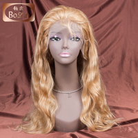 Grade 9a virgin hair glueless lace wig blonde color 27# Brazilian body wave 100 full lace wig