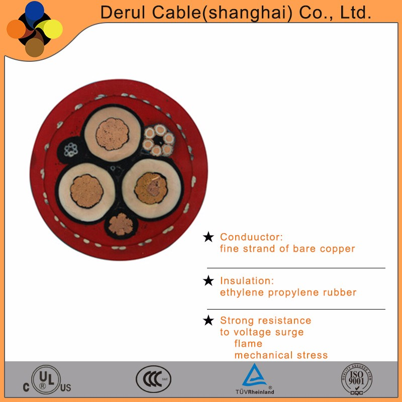 Copper conductor 70 mm2 drum-reeling power cable with flame resistance