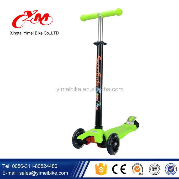 China manufacture online sells 3 wheels kids scooter/kids seated scooter/assembly scooter for kids