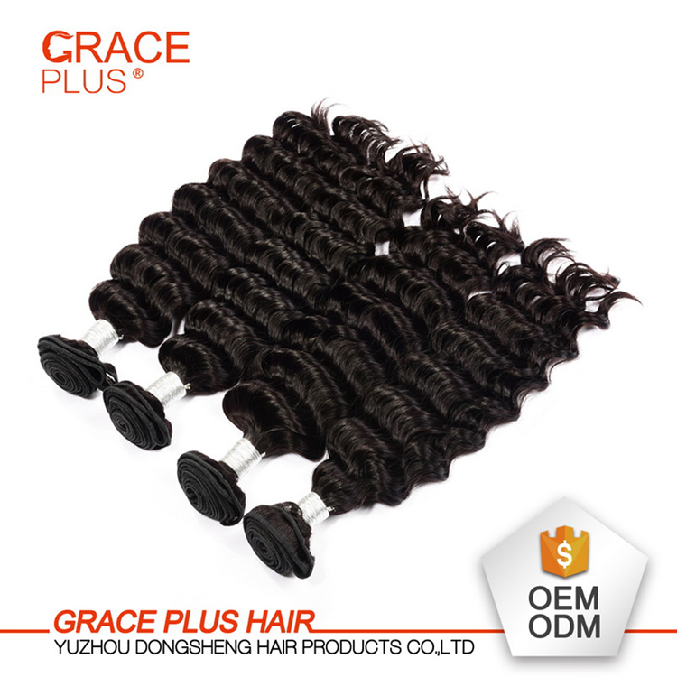 Hot beauty hair products raw unprocessed virgin south indian temple hair natural color deep wave