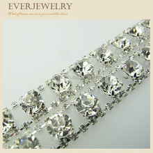 Hot Sale Crystal Decorative Rhinestone Trims In Roll for dress/shoe