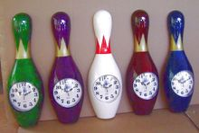 Bowling Pin Clock Bowling Gift Bowling Gifts And Novelty Bowling Pin Gift
