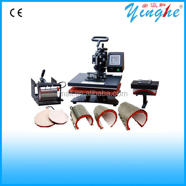 Multi-function digital Heat transfer printing machine print photos on mug/cup/hat/t-shirt/plate
