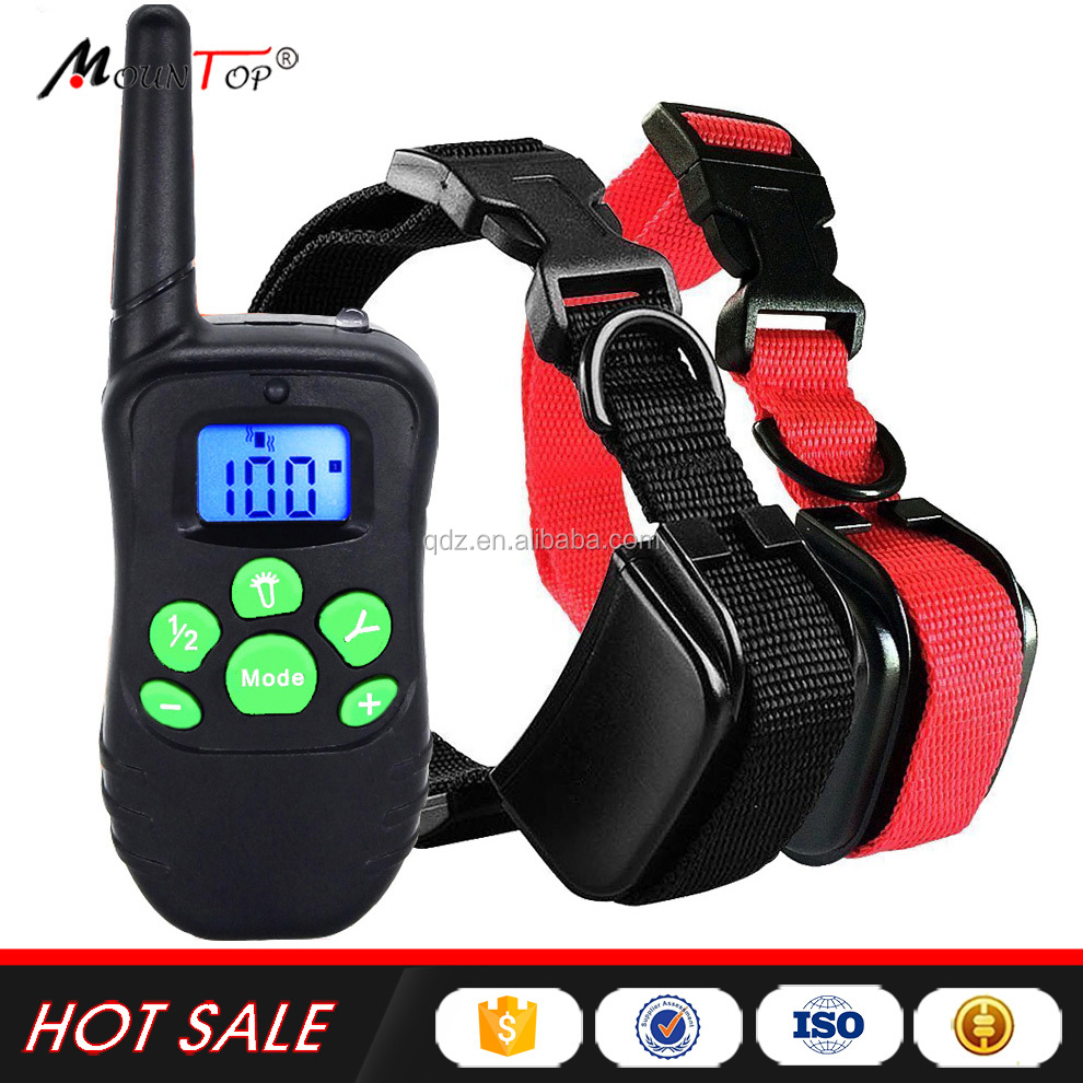 Amazon Top Shock pet trainer Dog Training Collar for 2 dogs New Hot