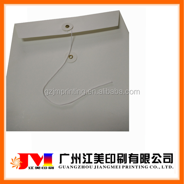 China Professional High Quality Custom Made Kraft Paper Envelopes with String