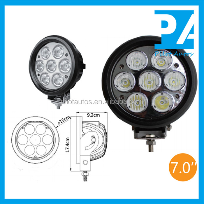 "Spot Flood Combination 70W 7.0"" inch Driving Light For ATV SUV off road 4x4 heavy equipments Truck Jeep Motorcycle Boat 0370"