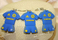 Madrid football uniform soccer keychain promotional