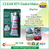 Clear RTV Gasket Maker (sample is free,85g,red,blue,black,grey)
