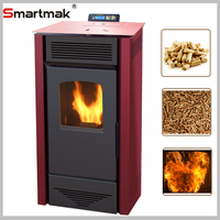 Domestic Automatic Feeding Wood Pellet Burning Stove,Pellet Stove With Boiler