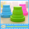 Portable silicone collapsible cup for travel,silicone folding cup,foldable cup