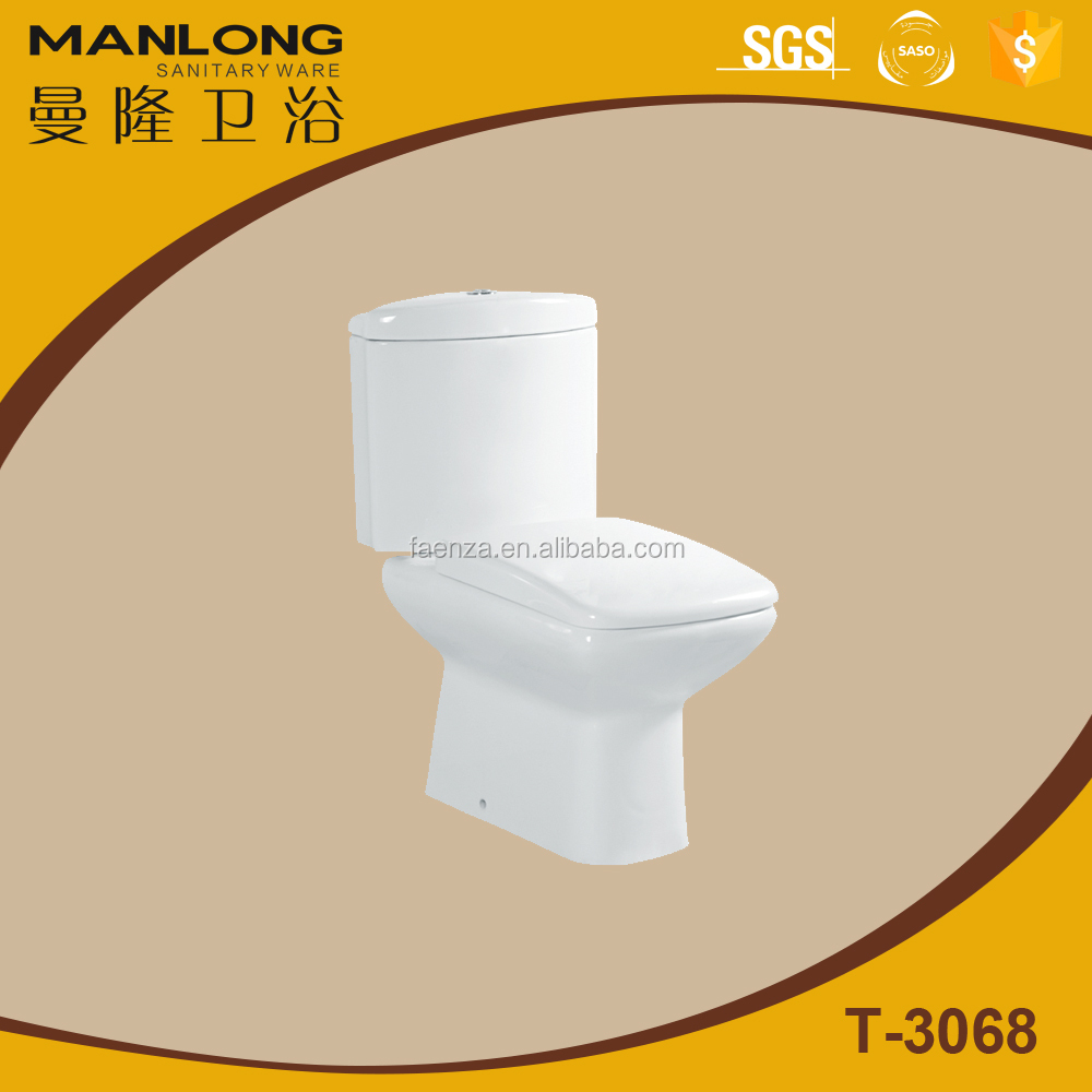 Ceramic washdown two pieces toilet