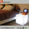 Magic 16 color change square led cube chair for solon garden outdoor