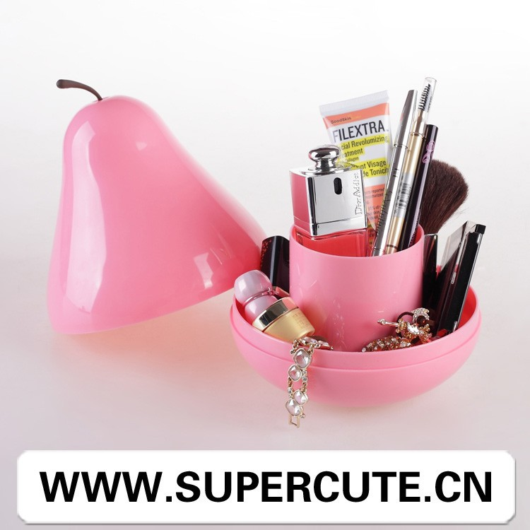 Multipurpose ABS Pink color pear shape office container