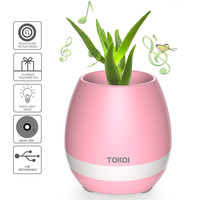 Smart Touch Music Plant Lamp Rechargeable