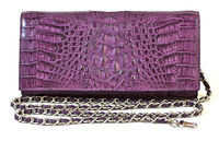 Handmade Genuine Crocodile Leather Women Designer Evening Stylish Clutch Handbag