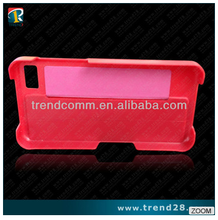 red embedded fold and stand leather case for blackberry z10 with imitating original