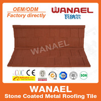 Best Chinese roof tile manufacturer Wanael,stone coated steel roof,asphalt roof tile