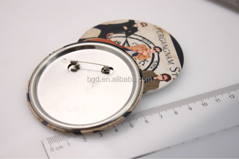 Vograce Custom oval metal photo tin badge
