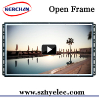 7/10/15/18.5/21.5 inch cheap open frame retail display video screens , web based open frame lcd monitor 19""