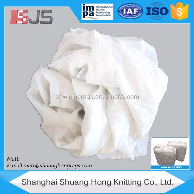 bed sheeting rags (used) wiper t shirts white cotton glasses rag