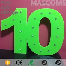 puch hole size 12mm shenzhen led letter light sign advertising agency
