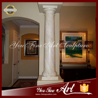Stone Indoor Columns with Simple Design