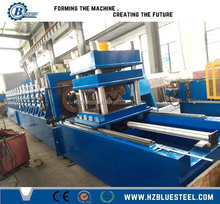 European Standard Highway Guardrail Sheet Roll Forming Machine W Beam Production Line With Continuous Cutting
