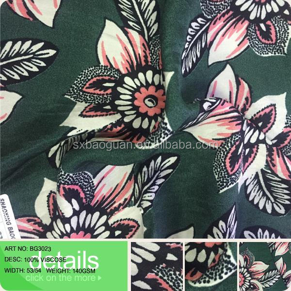 100% viscosegood hand feeling print fabric