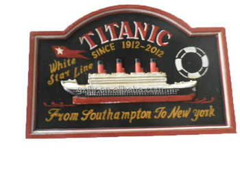 Titanic Design wooden hanging plaque
