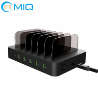 MQ Universal 6 Port USB Desktop 50W charging docking station with PD and QC3.0 quick charge for smartphone and tablet