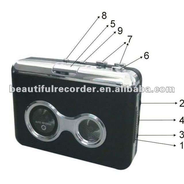 usb cassette capture mp3 player,USB cassette player and tape convertor to MP3 format
