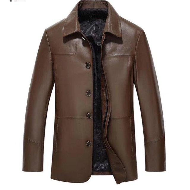 Latest design men's leather sheepskin Jacket men clothing spring jacket for men