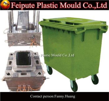 Hands push type trash can mould