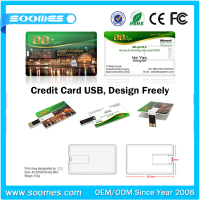 Wholesale china bulk credit card shape portable usb pen drive 256MB-64GB,bulk USB2.0 pen drive