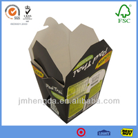 Wax Coated Food To Go Boxes For Chinese Noodles Packaging