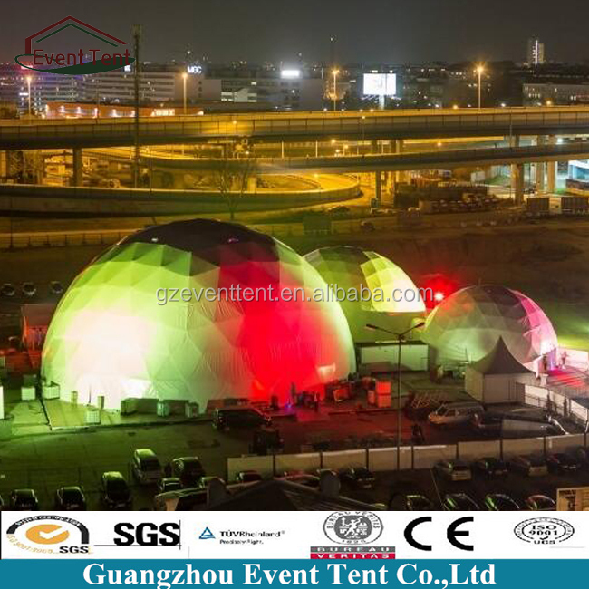 25meter geodesic dome for concert music event