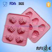 6-Cavity Rose Shape Silicone Mold for Homemade Soap, Cake, Cupcake, Bread, Muffin, Pudding