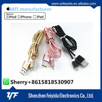 NEW Multifunctional mobile phone accessories alloy nylon braided micro usb charger cable for iphone 5
