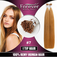 European Wholesale Italy Keratin Hair Double drawn 100 Remy Human itip russian hair extensions