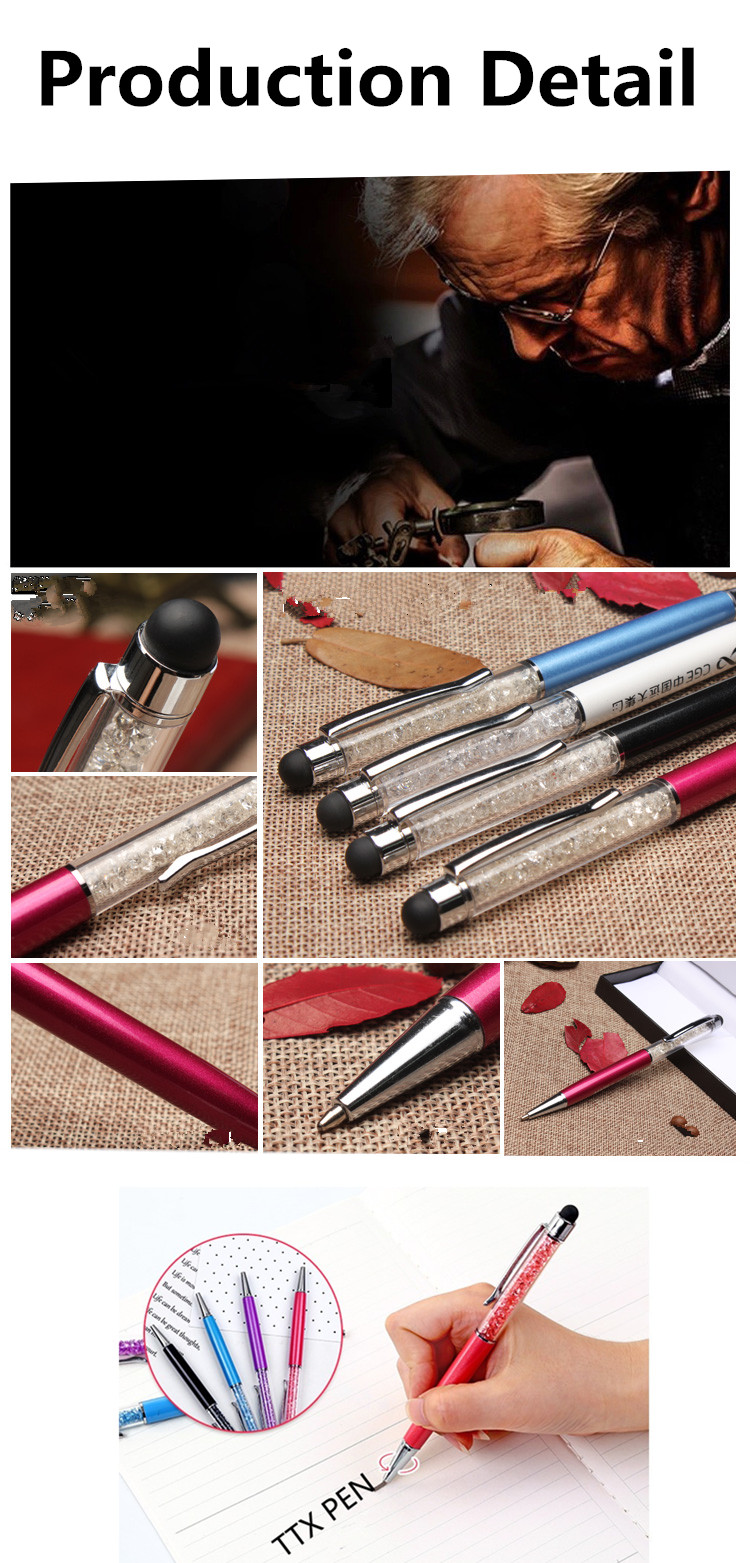 2018 Bling Crystal Diamond Promotional Metal Stylus Touch Pen