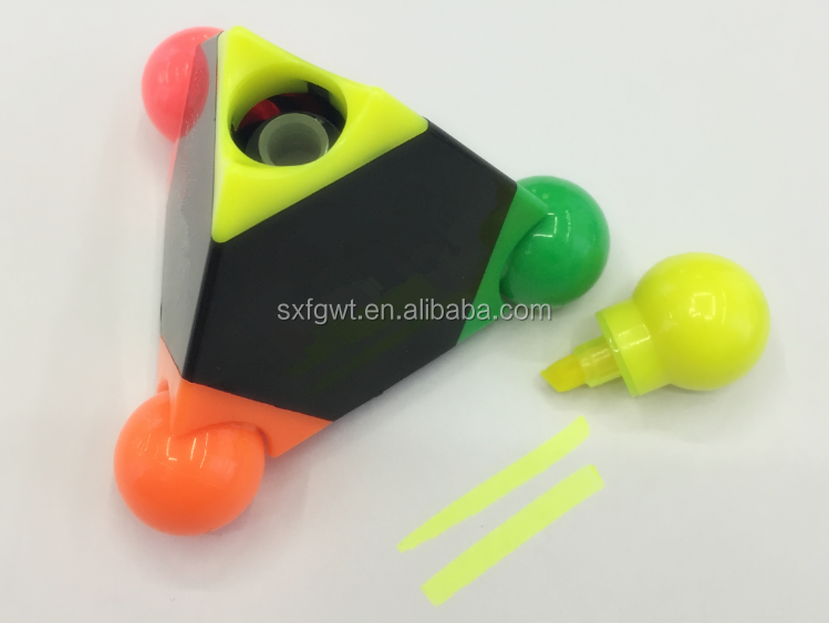 3d pen/Pyramid fluorescent pen(Pyramid highlighter marker pen)/digital highlighter