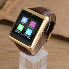 Leather Strip Smart Watch Bluetooth GPS Tracker Touch Screen with SIM Card Android and IOS For Men